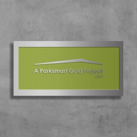 Parksmart– Polished Aluminum Wall-Mounted Plaque