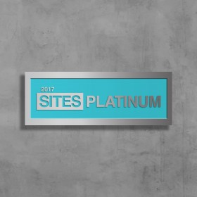 SITES Certification – Brushed Aluminum Wall-Mounted Plaque
