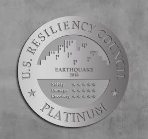 USRC– Polished Aluminum Wall-Mounted Plaque
