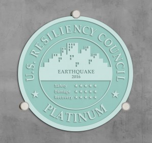 USRC - Sand Blasted Glass Plaque