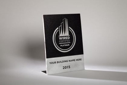 Wired Certification Aluminum Desktop Plaque - USA